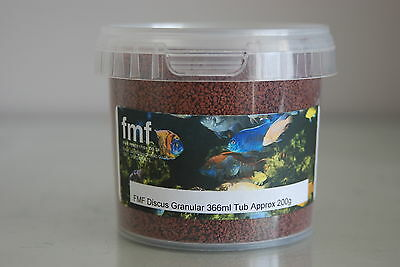 FMF Discus Granular Fish Food 366ml Tub Approx 200g Suitable For all Discus