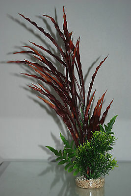 Aquarium Tropical Atoll Grass 40 x 6 x 6 cms Green & Red Suitable For Aquariums
