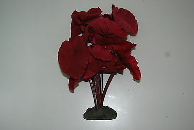 Aquarium Silk Plant Lotus Leaf Red Leaf Plant 20 cms Suitable For All Aquariums