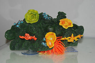 Aquarium Reef Decoration + Suckers For Attatching To Glass 30 x 18 x 12 cms