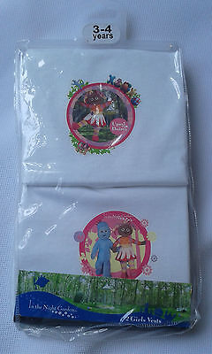 Upsy Daisy Girls Vests 2 Pack 100% Cottony Soft 2 to 5 Years