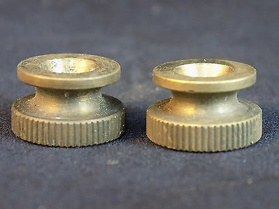 "SOLID BRASS 1/4"" THUMB SCREW THROUGH BOLT Set of 2 VINTAGE HARDWARE"