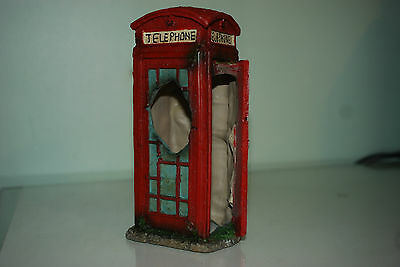 Aquarium Large Old London Telephone Box 8 x 9 x18 cms Suitable For All Aquariums