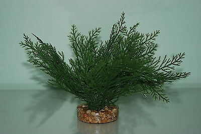 Aquarium Plants Green Plant 15 cms Fern Style With Gravel Weighted Base
