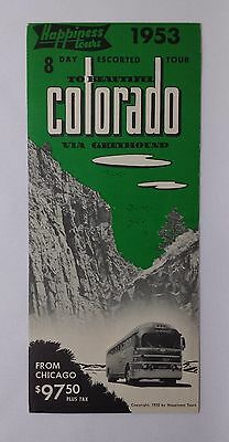Vintage 1953 Colorado HAPPINESS TOURS Greyhound Advertising Brochure Print Ad