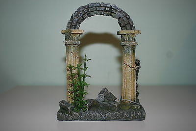 Aquarium Greek Arch Ruin Decoration 10.5 x 4 x 15 cms Romain Egypt Old Plant