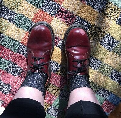 Cherry Red Dr Martens Shoes, Size 8, Unisex