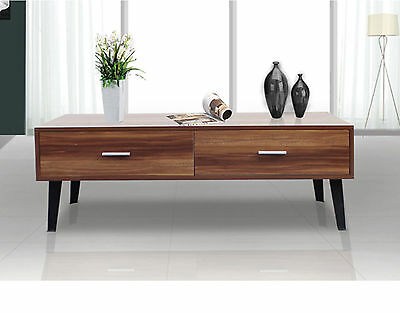 Large Retro TV Unit Walnut Entertainment Stand Scandinavian Cabinet Coffee Table