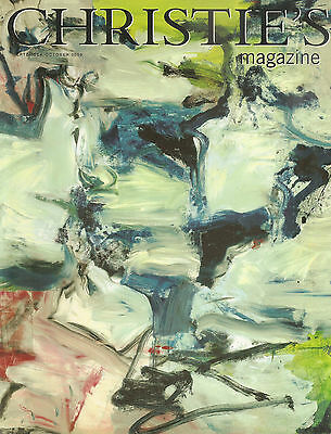 Auction Christie Magazine Sept/Oct 96. Willem de Kooning Abstract Art Antique