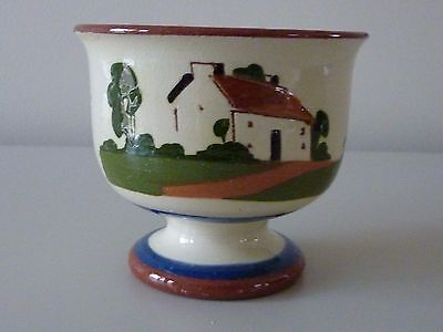 Watcombe Devon/Torquay Ware Footed Bowl ''A Stitch In Time Saves Nine''