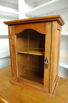 Antique Wall Cabinet Cupboard Hanging Cabinet Old in Oak Wood