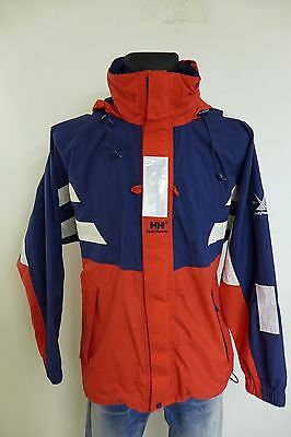 NV120 Men Helly Hansen Sailing Yachting Hooded Waterproof Jacket Size M