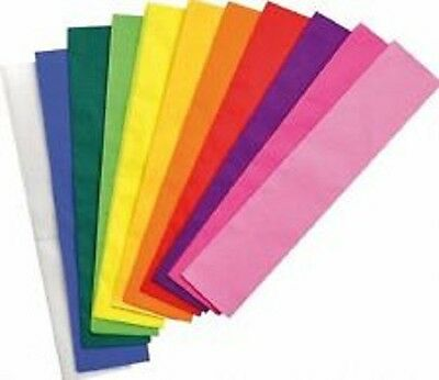 County Stationery Assorted Crepe Paper 1.5 metre X 50cm Suitable For All Crafts