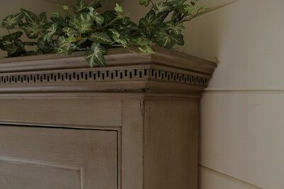 """Antique Gustavian Style Corner Cupboard/painted """"farmhouse Style"""""""