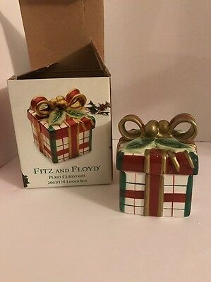 Fitz And Floyd Plaid Christmas Present LIdded Box With Original Box 2063/128
