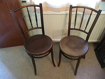 Two Antique Collectable Bentwood Dining Chairs Restoration Project? Shabby Chic