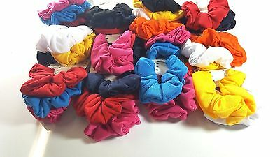 Lot of cotton Fabric Scrunchies Hair Multi-color Pick up.