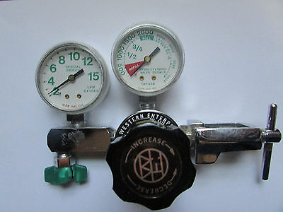 Western Enterprises COMPRESSED GAS REGULATOR-876X M1-870-FG2- MEDICAL OXYGEN #1