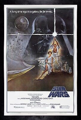 STAR WARS * CineMasterpieces VINTAGE ORIGINAL MOVIE POSTER 77/21 RARE ROLLED 1SH
