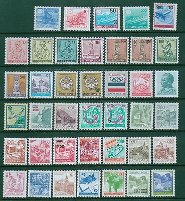 Yugoslavia, Jugoslavia collection lot of 40 different MNH definitive stamps Mint