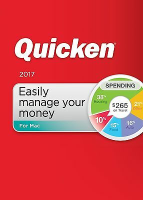 Quicken For Mac 2017 Personal & Budgeting Software Mac Disc