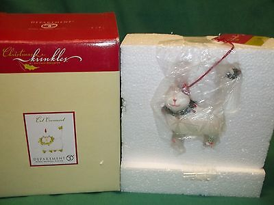 Department 56 Christmas Krinkles CAT Ornament 56.36615 NEW