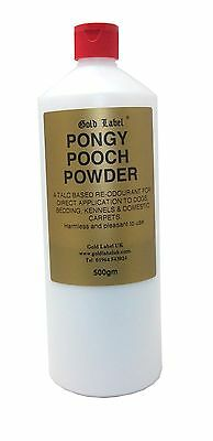 Gold Label Pongy Pooch Powder 500gm combat smells on dogs and their bedding