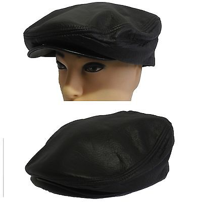 Made In USA Genuine Leather Greek Style Rope Band newsboy Fisherman Hat