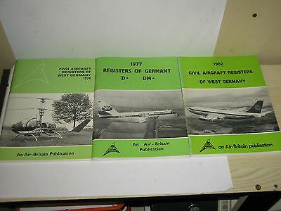 The Civil Aircraft Registers of West Germany 1974, 1977, 1982