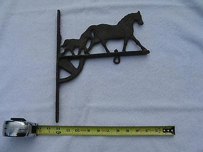 Antique horse wall or post langer