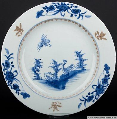China 18. Jh. Qianlong Teller - A Chinese Export Blue & White Porcelain Plate