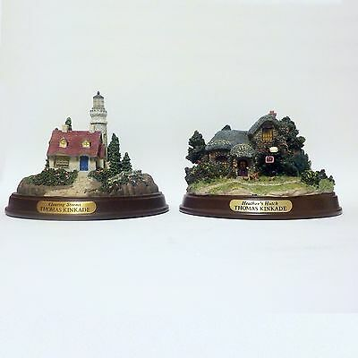 THOMAS KINKADE Heather's Hutch - Clearing Storms 2 LIGHTED COTTAGE HOUSE Lot