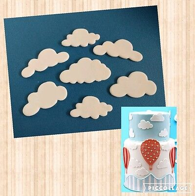 10x edible clouds  cake/cupcake topper/ decorations birthday party