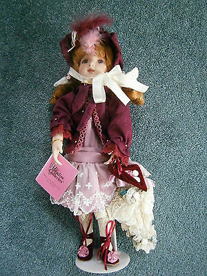 """Victorian Girl with Parasol 14"""" Paradise Galleries NIB"""