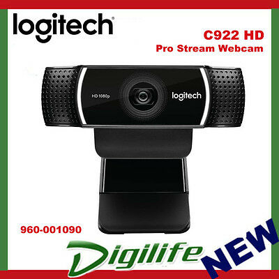 Logitech C922 HD Pro Stream Webcam FULL HD 1080P Tripod 960-001090