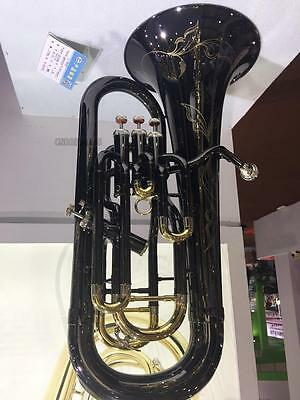 New 2017 Professional Euphonium Horn Black nickel Finish Monel Valve With Case