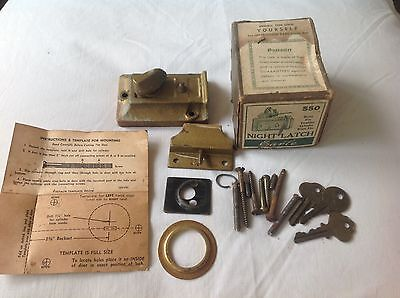 Antique Used Earle Night Latch # 550 - Parts