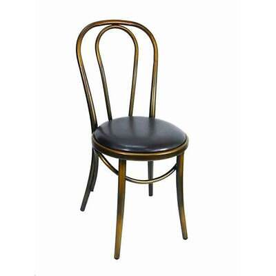 Replica Thonet Metal Bentwood Chair Cafe Restaurant Retro Dining Chairs Copper