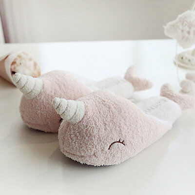 Narwhal Lovely Style Thicken Soft Cotton Floor Slippers Woman Warm Shoes GT
