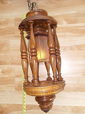 Vintage Tigar Maple Ceiling Light Lamp Fixture Hall Entryway