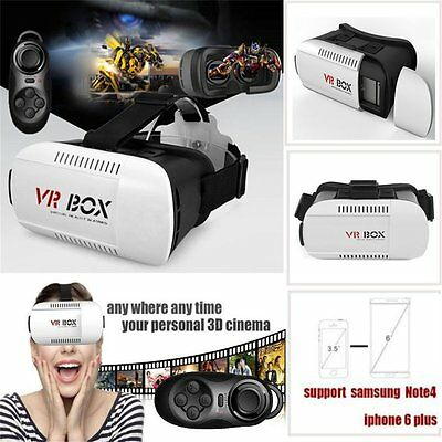 3D Bluetooth VR BOX Virtual Reality Remote Control Glasses For Iphones P6