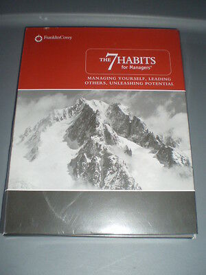 Franklin Covey The 7 Habits For Managers CD Book Mixed Media Kit