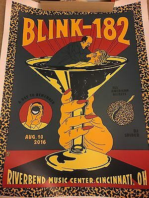 Blink 182 Cincinnati Ohio Tour Poster 8/10/16 California Bored To Death 70/182