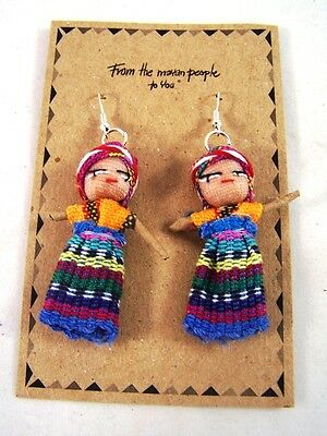 Worry Doll Dolls Earrings Made In Guatemala Fair Trade  Childrens Anxiety