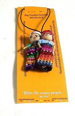 Worry Doll Dolls Necklace Made In Guatemala Fair Trade Children Anxiety Handmade