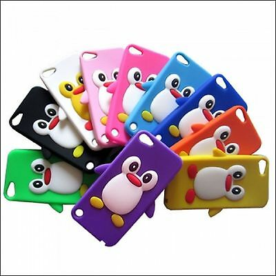 3D Penguin Soft Silicone Gel Rubber Case Skin For iPod Touch 6th Generation 6G