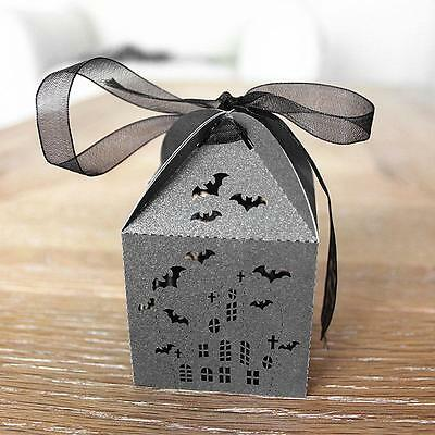 50x Black Bat Terror Hens Night Fun Halloween Party Gift Favor Candy Boxes