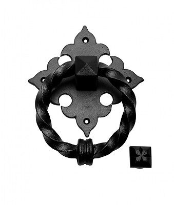 Door Knocker Black Cast Iron 7 H x 5 1/2 W | Renovators Supply