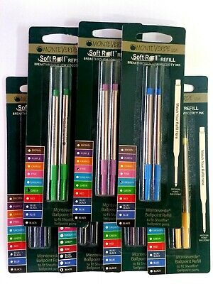 Sheaffer by Monteverde Ballpoint Refill Assorted Color Medium 14 pcs Mint S132