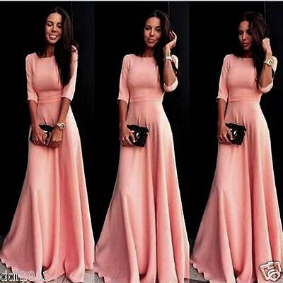 Women Long Evening Party Ball Prom Gown Formal Bridesmaid Cocktail Dress NEW